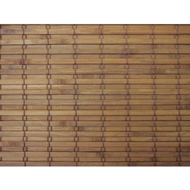 Elite Cordless Woven Wood Shades Eastfield - Teak
